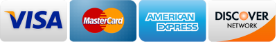 credit cards accepted visa, mastercard, american express and discover