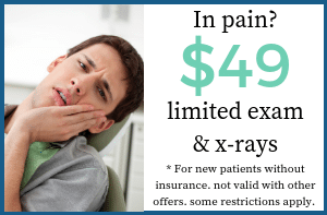 $49 limited exam & x-rays
